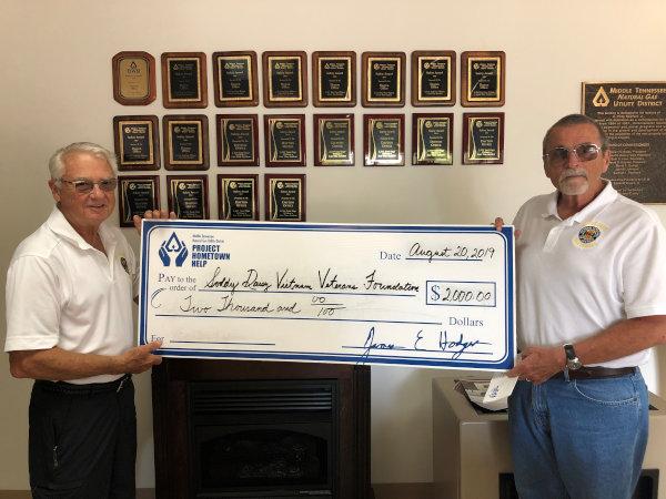 MTNG donates to Dayton Vietnam Vets