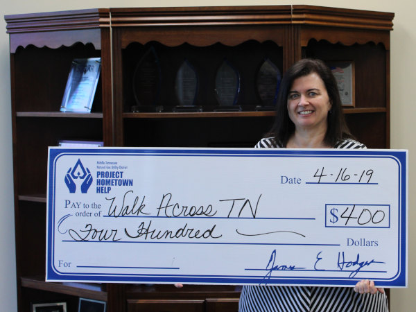 PHH donation to Walk Across Tennessee