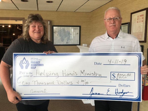 PHH donates to Helping Hands Mnistry